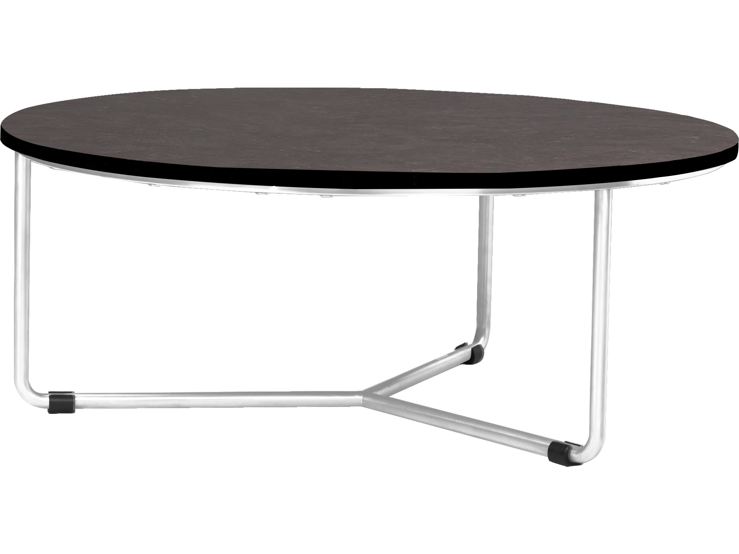 Mamagreen Meika Steel 35 Wide Round Low Coffee Table