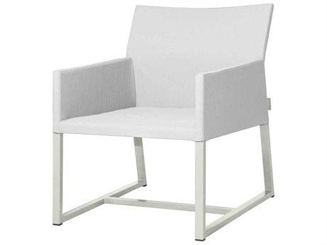 Mamagreen Mono Aluminum Cushion Dining Arm Chair (Quick Ship)