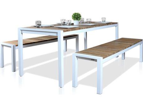 Mamagreen Zudu Aluminum Steel Dining Set PatioLiving