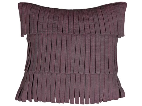 Mamagreen Fringe 14'' Wide Square Pillow