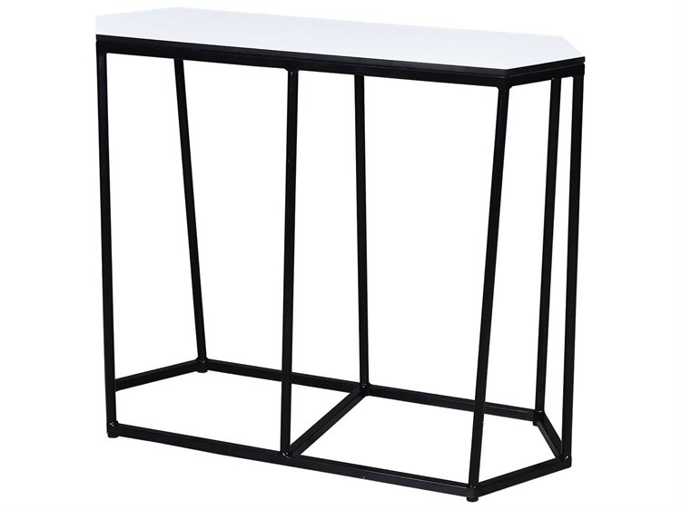 Mamagreen Polygon Aluminum 39''W x 16''D Elongated Hexagon Console Table PatioLiving