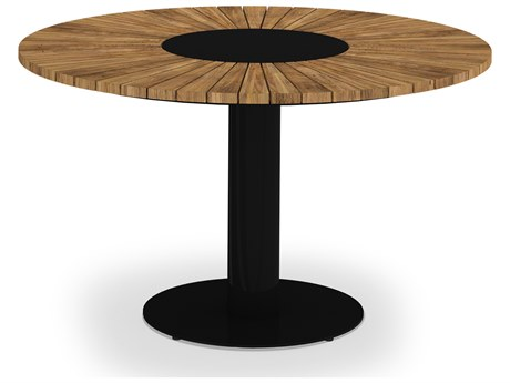 Mamagreen Industrial Aluminum 50''Wide Round Dining Table