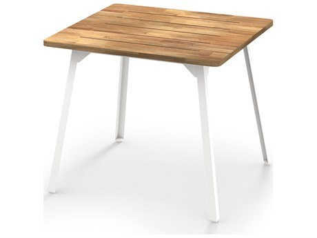 Mamagreen Industrial Aluminum 35''Wide Square Bistro Table