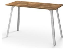 Industrial Aluminum 67''W x 31''D Rectangular Bar Table