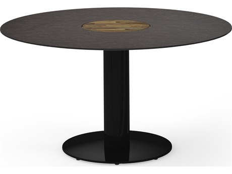 Mamagreen Stizzy Aluminum 50''Wide Round Bistro Table