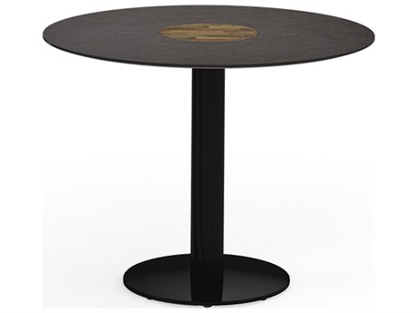Mamagreen Stizzy Aluminum 35''Wide Round Bistro Table