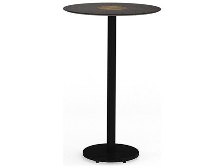 Mamagreen Stizzy Aluminum 27'' Wide Round Bar Table