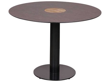 Mamagreen Stizzy Aluminum 35''Wide Round Dining Table