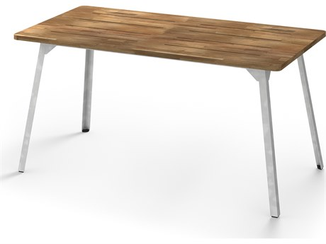 Mamagreen Industrial Aluminum 59''W x 31''D Rectangular Dining Table