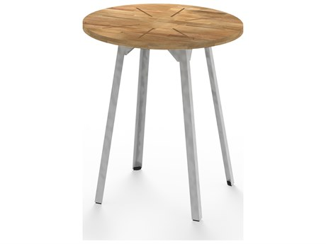 Mamagreen Industrial Aluminum 27''Wide Round Bistro Table
