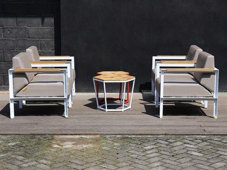 Mamagreen Industrial Aluminum Cushion Lounge Set