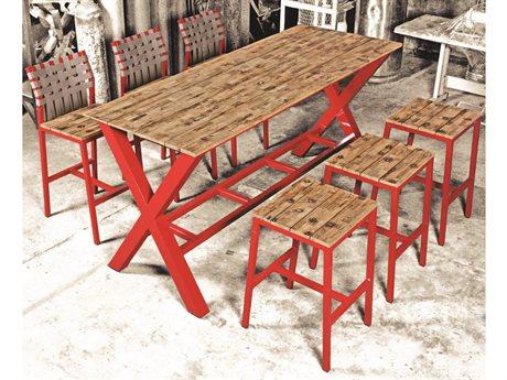 Mamagreen Industrial Aluminum Dining Set PatioLiving