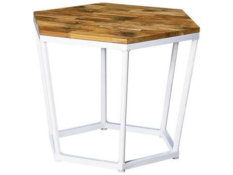 Mamagreen Polygon Aluminum Teak Dining Stool