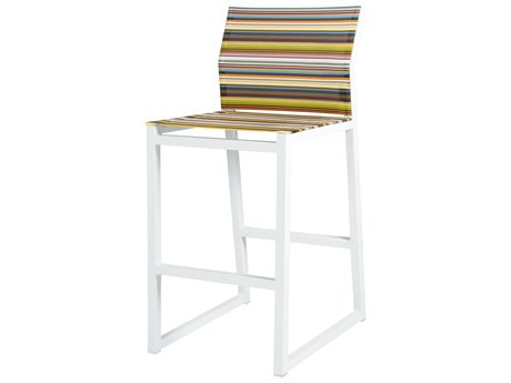 Mamagreen Stripe Aluminum Sling Bar Stool