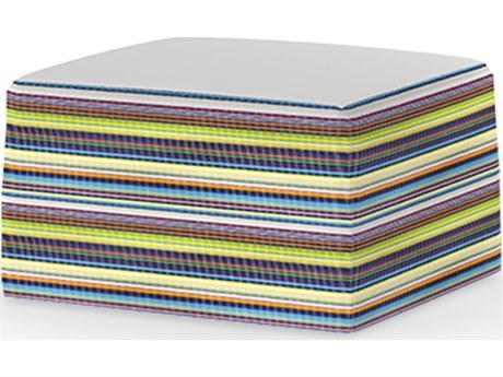 Mamagreen Stripe Fabric Cushion Ottoman