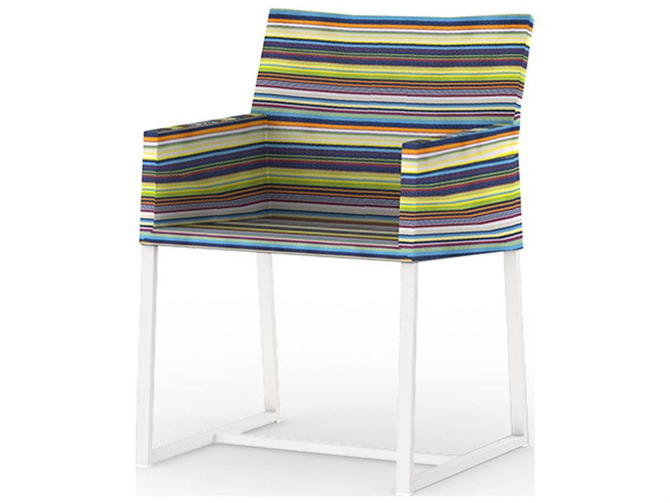 Mamagreen Stripe Aluminum Sling Dining Arm Chair