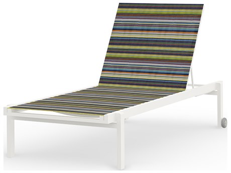 Mamagreen Stripe Aluminum Sling Stackable Chaise Lounge