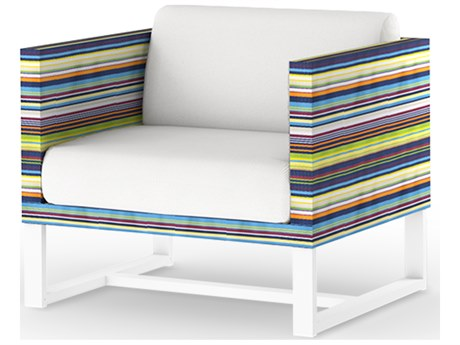Mamagreen Stripe Aluminum Cushion Lounge Chair