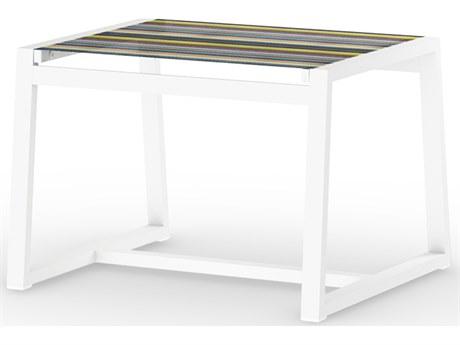Mamagreen Stripe Aluminum Sling Ottoman