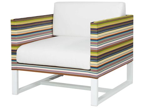 Mamagreen Stripe Aluminum Cushion Lounge Chair (Quick Ship)