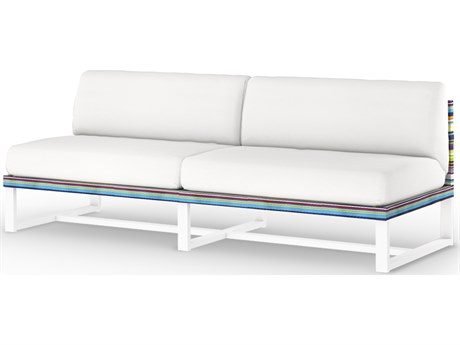 Mamagreen Stripe Aluminum Cushion Modular Loveseat