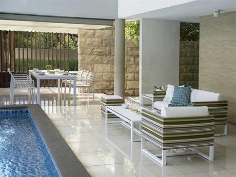 Mamagreen Stripe Aluminum Cushion Lounge Set