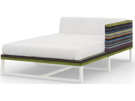 Mamagreen Stripe Aluminum Cushion Left Arm Chaise Lounge