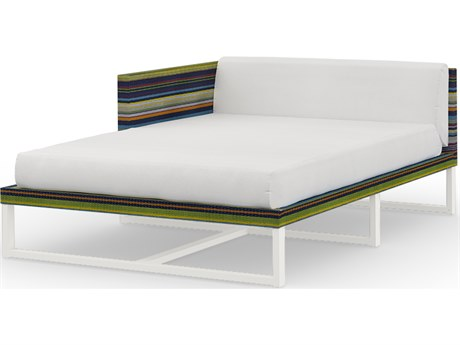 Mamagreen Stripe Aluminum Cushion Right Arm Chaise Lounge
