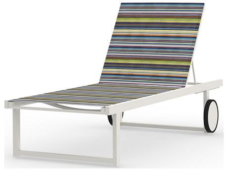 Mamagreen Stripe Aluminum Sling Chaise Lounge
