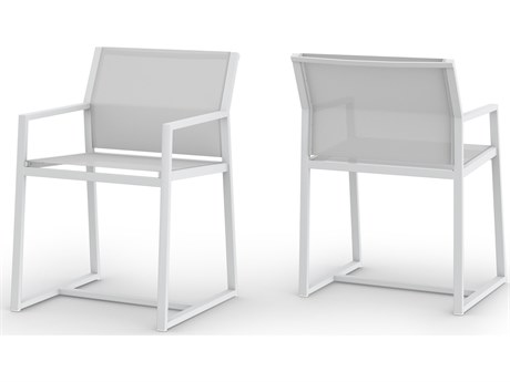 Mamagreen Allux Aluminum Sling Dining Arm Chair