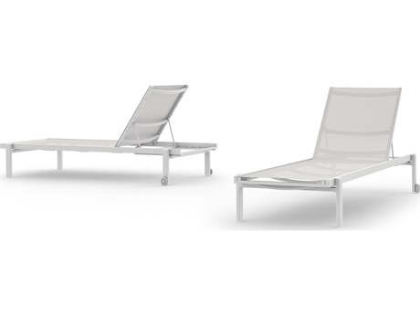 Mamagreen Allux Aluminum Sling Stackable Chaise Lounge