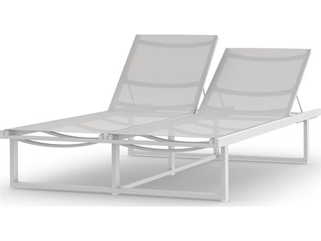 Mamagreen Allux Aluminum Sling Double Chaise Lounge
