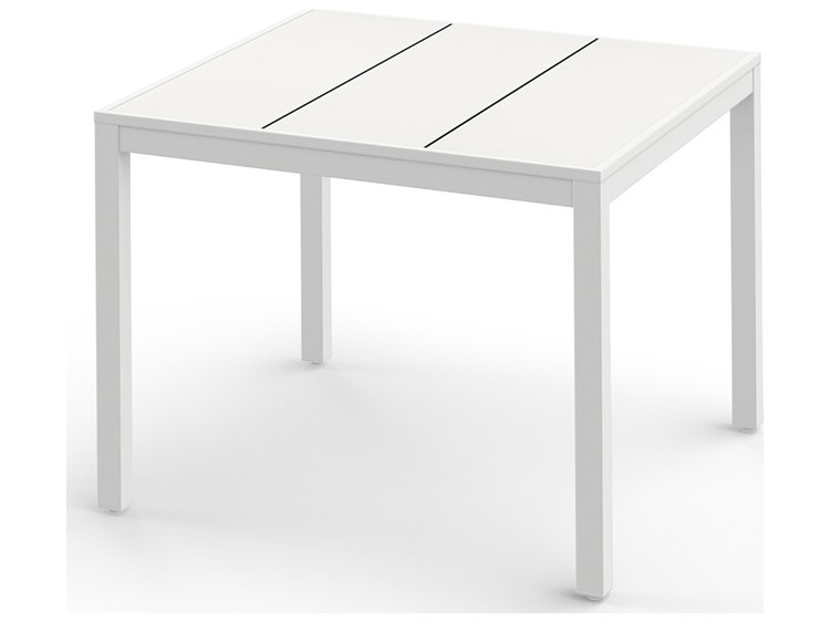 Mamagreen Allux Aluminum 39''Wide Square Dining Table PatioLiving