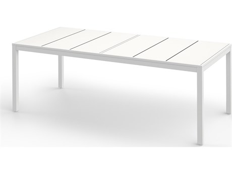 Mamagreen Allux Aluminum 86''W x 39''D Rectangular Dining Table