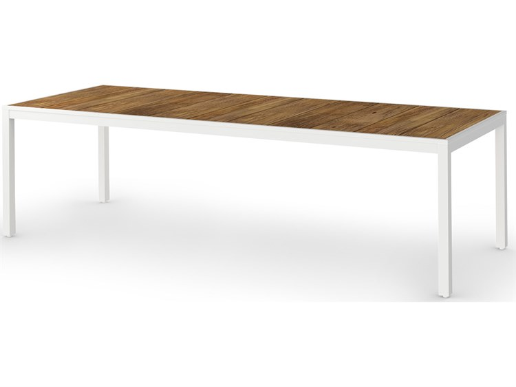 Mamagreen Allux Aluminum 106''W x 39''D Rectangular Dining Table PatioLiving