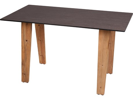 Mamagreen Sato Teak 53''W x 29''D Rectangular Bistro Table