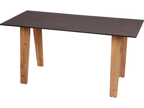 Mamagreen Sato Teak 71''W x 29''D Rectangular Bistro Table