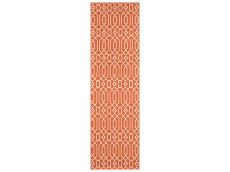 Momeni Baja Rectangular Orange Area Rug