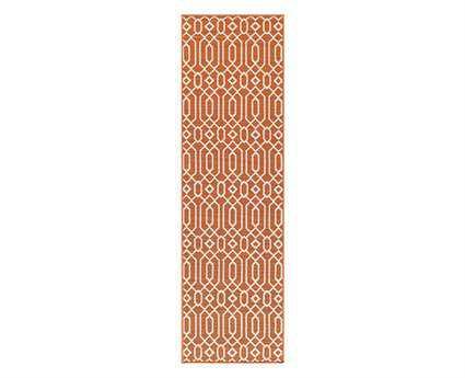 Momeni Baja 2'3'' x 7'6'' Rectangular Orange Runner Rug