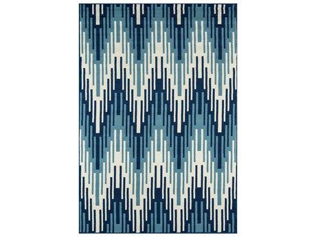 Momeni Baja Rectangular Blue Area Rug