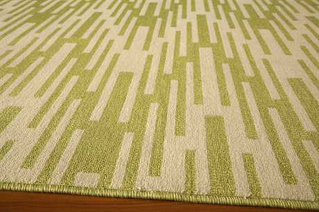 Momeni Baja Rectangular Green Area Rug