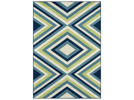 Momeni Baja Rectangular Blue Area Rug