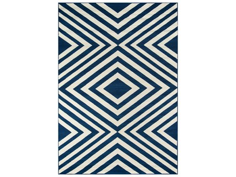 Momeni Baja Rectangular Navy Area Rug