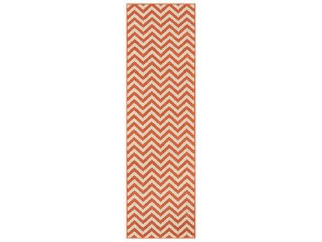 Momeni Baja Rectangular Orange Area Rug