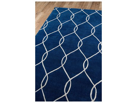 Momeni Bliss Rectangular Navy Area Rug
