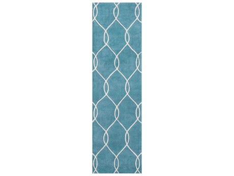 Momeni Bliss Rectangular Teal Area Rug