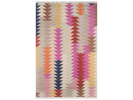 Momeni Caravan Rectangular Purple Area Rug