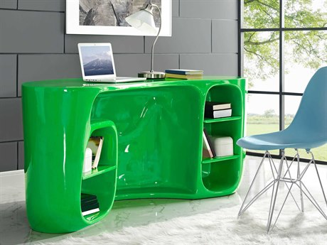 Modway Impression Green 76''L x 35'W Rectangular Computer Desk