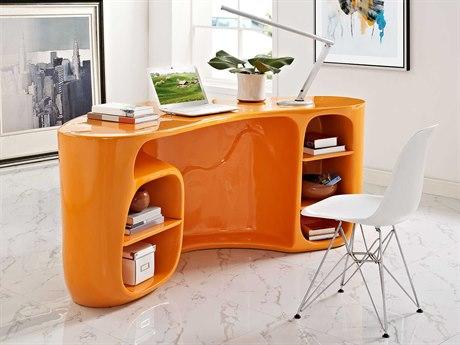 Modway Impression Orange 76''L x 35'W Rectangular Computer Desk