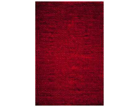 Momeni Downtown Rectangular Red Area Rug
